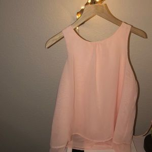 Baby Pink H&M sleeveless blouse for 12-13 GIRLS.